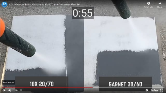 Field demonstration: Superoxalloy vs. garnet 30/60