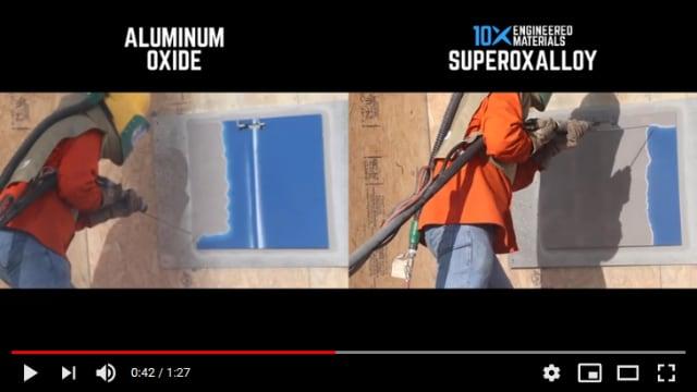 Field demonstration: Superoxalloy vs. aluminum oxide