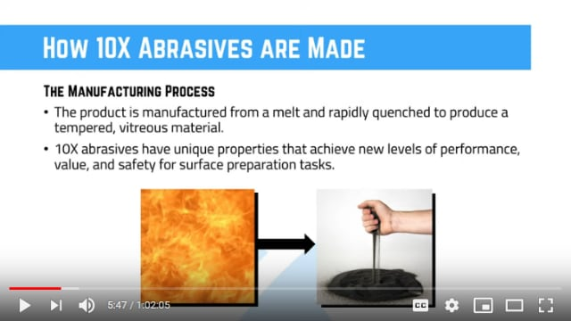 What is a superoxalloy abrasive?