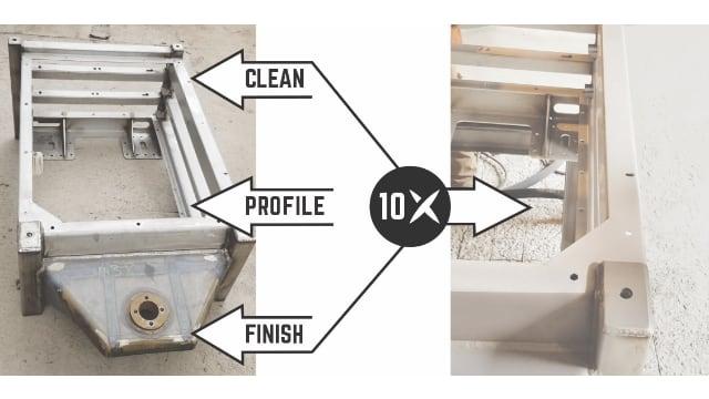 Superoxalloy turns a 3-step surface preparation job into a 1-step job