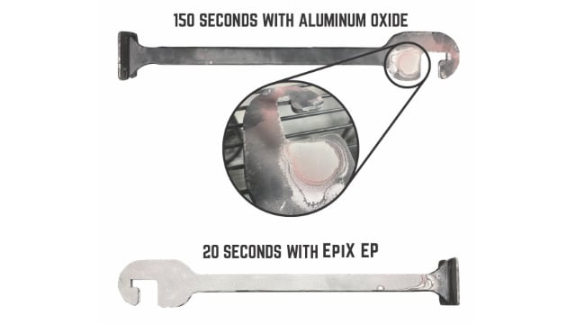 Superoxalloy vs. powder coat: Removing tough coatings in a matter of seconds